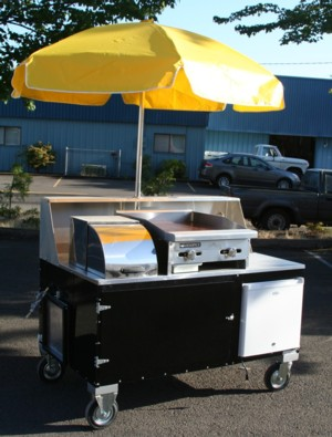 Custom Seattle Hot Dog Cart