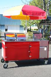Red Fryer Cart
